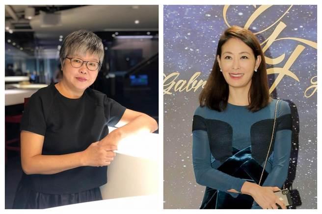 資深媒體人黃光芹(左)和藝人賈永婕(右)。(圖為中時合成照)