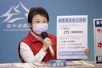 中市再獲37200劑疫苗 19日起開放80歲以上長輩接種
