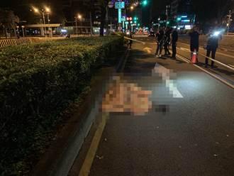 中市台灣大道快車道深夜倒臥1女  疑遭肇逃車撞擊頭顱變形身亡