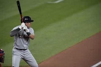 MLB》4打數盡墨還吞2K 張育成打擊率下滑至1成65