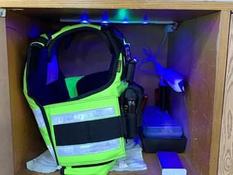 國際同濟會台中會捐紫外線殺菌燈 為警察築防疫關卡