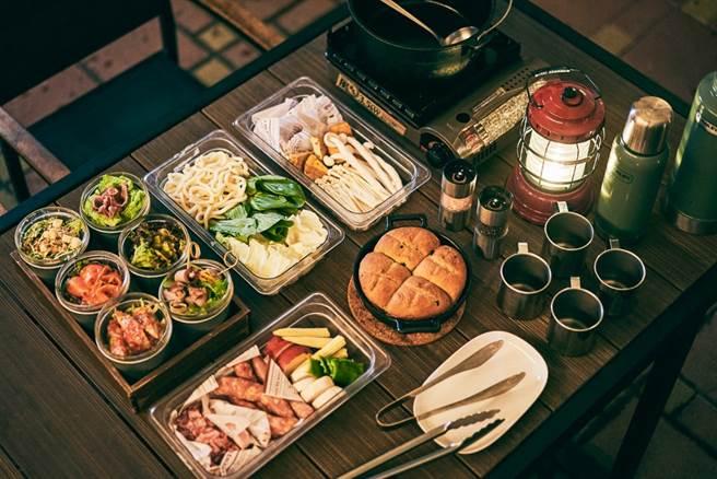 野炊晚餐況味十足,特級肋眼牛排與雞腿排搭上時令鮮蔬與澎湃海鮮組成的豪邁又奢華料理。(圖片提供:礁溪老爺酒店)