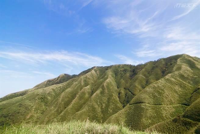 因為日籍攝影師小林賢武的一句話,宜蘭五峰旗山有了新的名字「抹茶山」。(攝影:行遍天下)