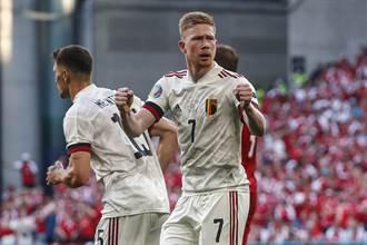 歐國盃》比利時強勢逆轉 2:1勝丹麥晉級16強