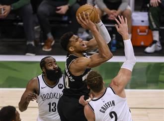 NBA》米德頓與字母哥合轟68分 公鹿拒絕淘汰進入搶7