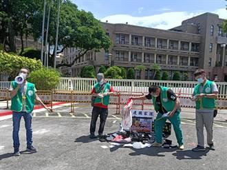 沒普篩又缺疫苗、防疫國家隊被用過即丟 郵政員工赴行政院抗議