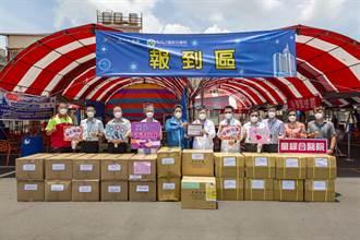 童綜合快篩站設置近滿月 愛心企業物資支援挺醫護