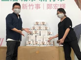 憂76行者遺體修復團隊染疫 行政院政務顧問鄭宏輝贈防疫面罩