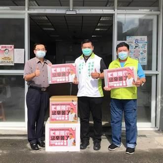 感謝警消、清潔隊員 高雄職業總工會理事長捐贈防疫面罩