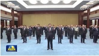 習近平參觀中共歷史展 率政治局常委重溫入黨誓詞