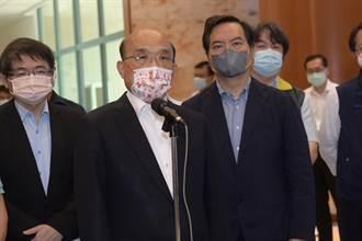 蘇貞昌視察竹南電子廠防疫 面對提問多以四兩撥千斤方式回應