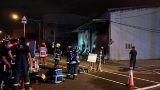台中大雅鋁門窗工廠火警竄火舌黑煙 1人救出無生命徵象