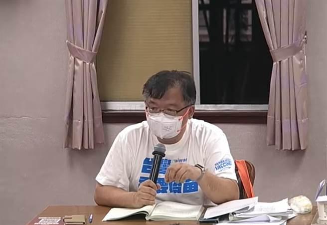國民黨立委李德維刊出17日在立法院審查預算的影片。(圖/取自李德維臉書)