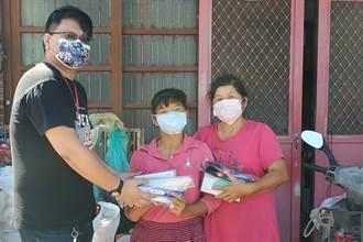 德鴻營造捐防疫物資 守護竹縣資源回收個體戶共同抗疫