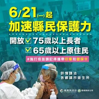 嘉義縣第3波疫苗接種 21日起下修75歲以上開打