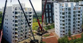 大陸遠大集團「組裝式工法」 10層高樓1天完成