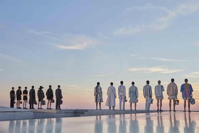FENDI 2022年春夏男裝系列秀場選定品牌羅馬總部大樓。(FENDI提供)