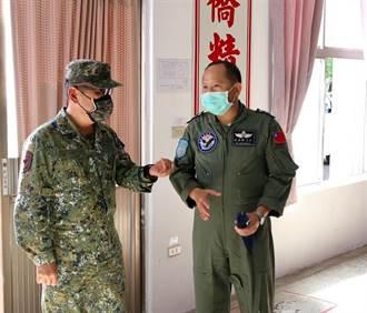 國防部推動作戰區編制 陸軍八軍團指揮官視導屏東空軍部隊防疫