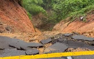 雨彈狂炸八卦山 「道路變天坑」車險墜谷