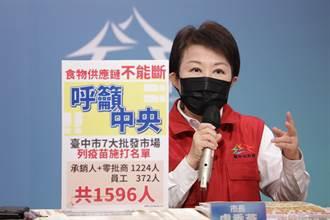 北農效應 盧秀燕:已請示中央七大批發市場優先打疫苗