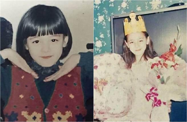 迪麗熱巴從小就美如洋娃娃。(圖/取材自鳳凰網娛樂微博)