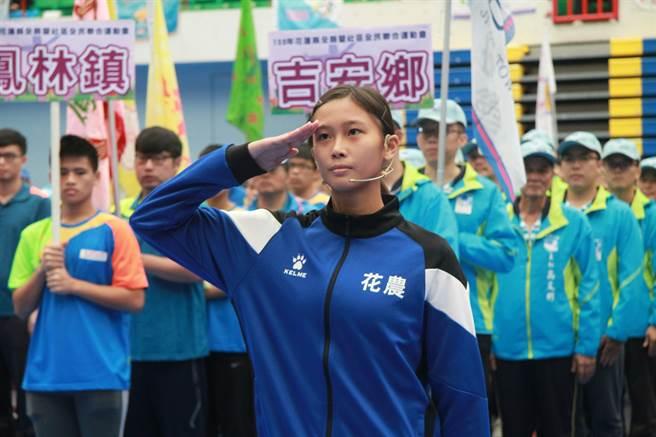 國立花蓮高級農業職業學校張博雅展現體育天賦,106年成為花蓮縣全國運動會成為女子代表隊。(圖/教育部國教署提供)