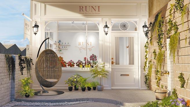 亞大室內設計學系學生梁允睿、林宇翔,以「RUNI Flower」設計作品,獲巴黎設計獎首獎。(亞大提供/林欣儀台中傳真)