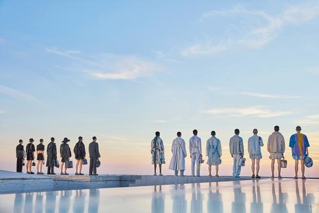 FENDI 2022年春夏男裝系列秀場選定品牌羅馬總部大樓頂樓。(FENDI提供)