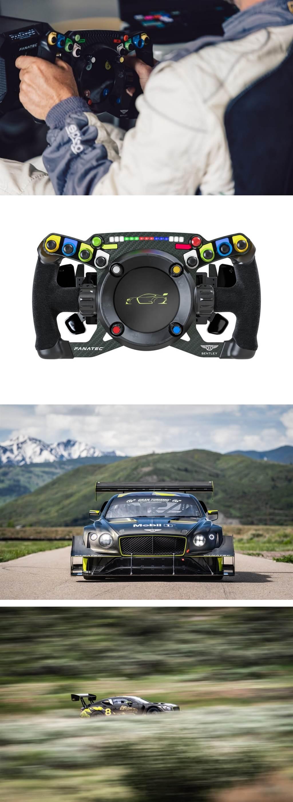 獨特的Bentley Fanatec方向盤專為真實和虛擬賽車而設計
