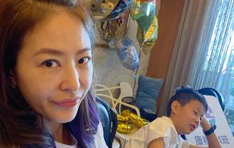 賈永婕首動員全家送便當 兒子口罩裡表情被抓包