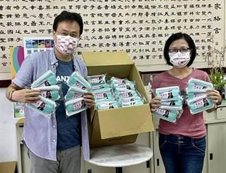 疫情肆虐口罩成必需品  市議員關心弱勢學童贈4000只口罩