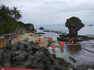 中油輸油管線破裂 25公噸原油飄散小琉球海域