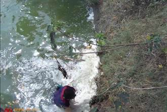 男子外出遲未返家 警發現他掉落埤塘跳下邊坡救人