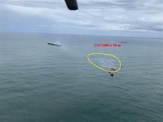 中油外海浮筒輸油管破漏 5工作船處理海上油污