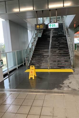 通車將滿2個月 中捷烏日站傳漏水