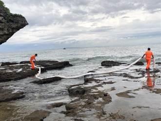 中油原油外洩污染琉球沿海 屏東縣政府啟動應變機制