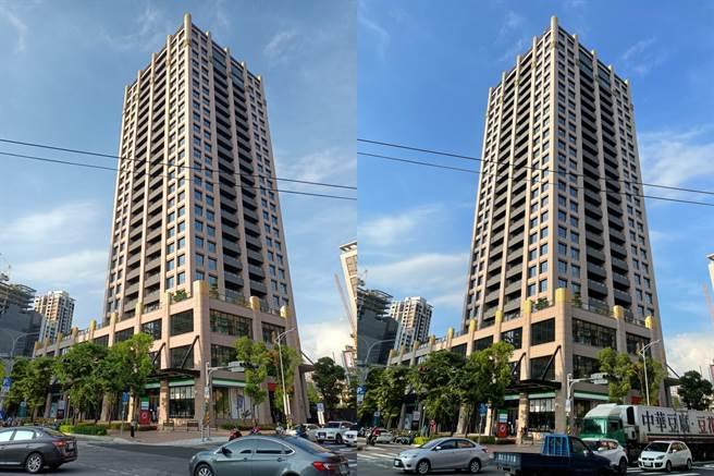realme 8 5G(左)對比iPhone 12 Pro相機日間拍攝(1)。(黃慧雯攝)