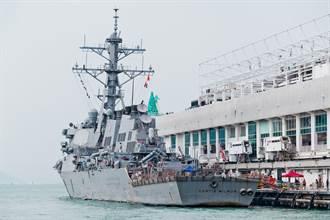 時隔一個多月 美驅逐艦魏柏號再度通過台灣海峽