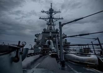 相隔約一個月 美軍神盾艦再通過台海
