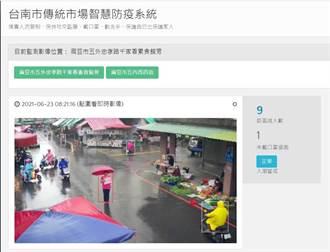 台南首創智慧防疫分流系統 未戴口罩人潮警戒 大聲公示警