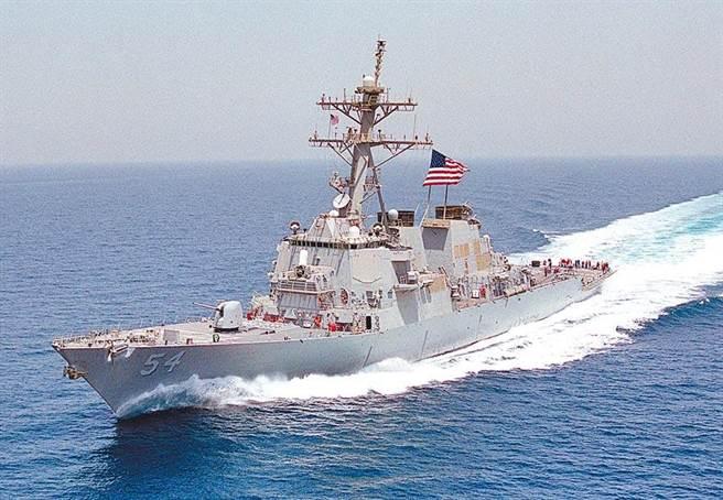 美神盾驅逐艦通過台海,拜登上任來今年第六度。(中時資料庫)