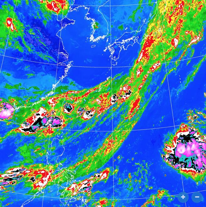 今年第5號颱風在上午生成。(翻攝自 氣象局)