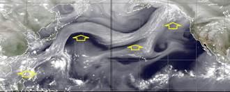 鄭明典PO驚人水氣帶 綿延1萬多公里 網:一條龍