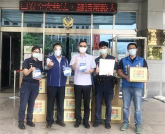 守護員警執勤安全 市議員號召企業人士捐贈防疫物資