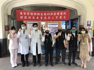 基隆慶安宮捐2百萬 助醫院增設防疫專責病房