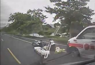 嘉義水上兩機車車禍 其中1人右腿膝蓋以下遭截斷