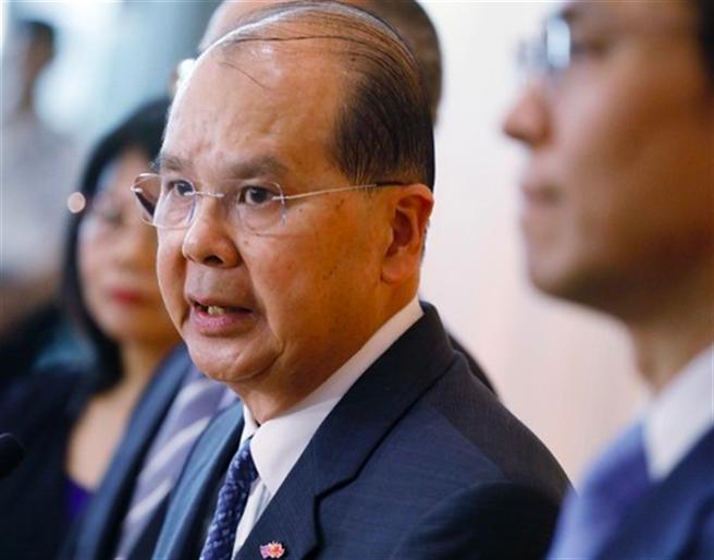 傳香港政務司司長張建宗7月1號後將卸任。(圖/東網)