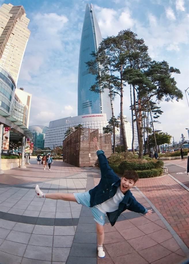 喜歡旅遊的蘇瑩純,在永慶房屋努力認真工作,也懂得享受生活!(圖/永慶房屋提供[疫情前拍攝])