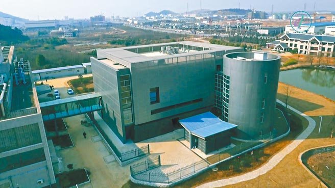 圖為武漢p4實驗室外部鳥瞰圖。(中新社)