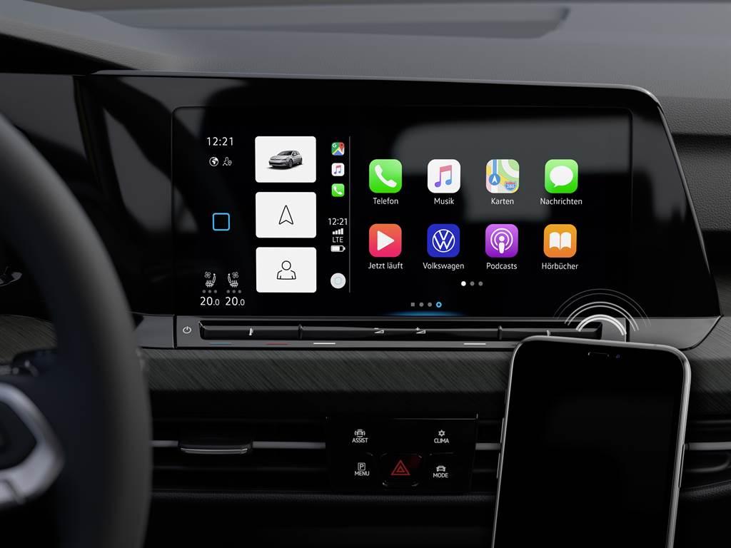 280 eTSI以上車型擁有無線Apple CarPlay及提供Volkswagen首款無線 Android Auto功能。